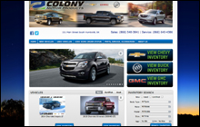 Screen Shot of Colony Motor Products home page